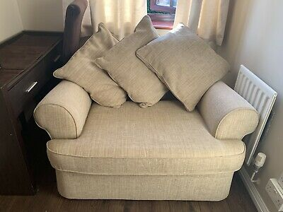 Mark And Spencer Chenille  Single Armchair Bed • 250£