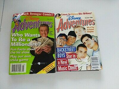 $9.90 • Buy Disney Adventures Magazine October 1999/ May 2000 Lot Of 2 Vintage