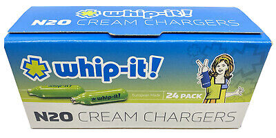 $ CDN30.77 • Buy Whip-It! N20 Cream Chargers 24ct. - Nitrous Oxide Cream Chargers- FREE SHIPPING