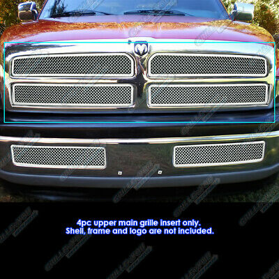 $151.99 • Buy Fits 1994-2001 Dodge Ram Pickup Stainless Steel Mesh Grille Grill Insert