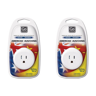 AU12 • Buy 2x Go Travel 3 Pin Plug Wall Power Outlet Socket USA To AUS/NZ/CHINA Adapter