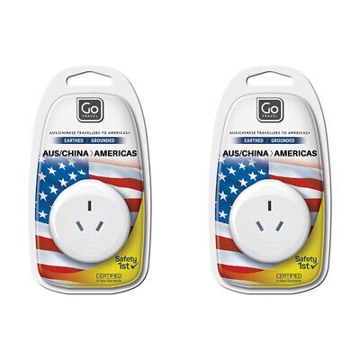 AU12 • Buy 2x Go Travel 3 Pin Plug Wall Power Outlet Socket AUS/NZ/CHINA To USA Adapter