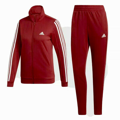 $59.99 • Buy Adidas Team Sports (Women's Size L) Tracksuit Lightweight Red Jacket Jogger Set