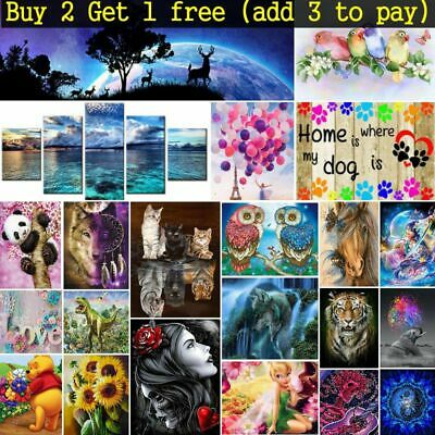 AU9.50 • Buy DIY  5D Diamond Painting Kits Full Drill Rhinestone Embroidery Cross Stitch Arts