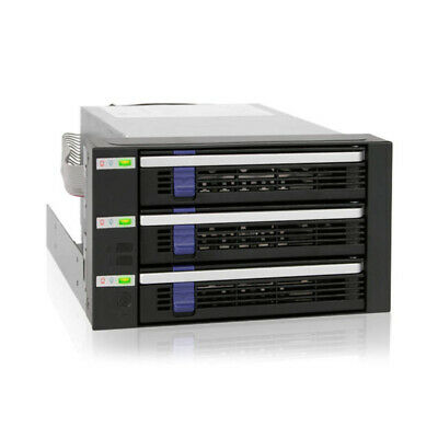 Icy Dock Mb153Sp-B Fatcage 3X 3.5 Inch Hdd In 2X 5.25 Bay Hot Swap Sata 6Gbps • 84.26£
