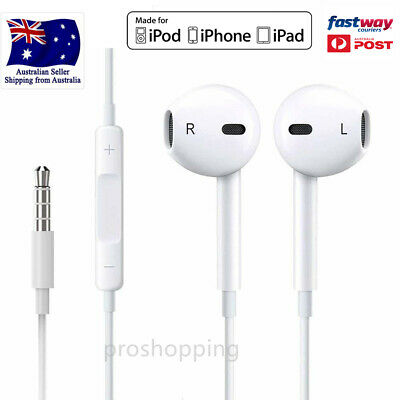 AU15.99 • Buy Earphone Headphone To Suit Apple IPhone4/5/6 IPod IPad Air With Mic