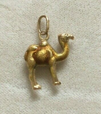 $159 • Buy Vintage 18k 750 Yellow Gold Camel Animal Pendant Charm