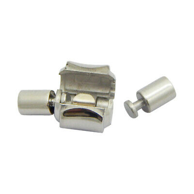 Stainless Steel 3.2 Mm Clasps Used For Leather To Make Bracelet Add Beads • 3.99£