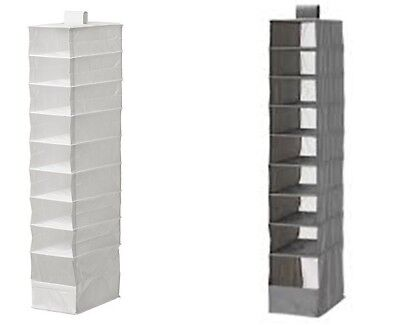 Ikea Skubb HANGING 9 Compartment Shoe Organiser Storage Boxes Wardrobe NEW • 8.78£