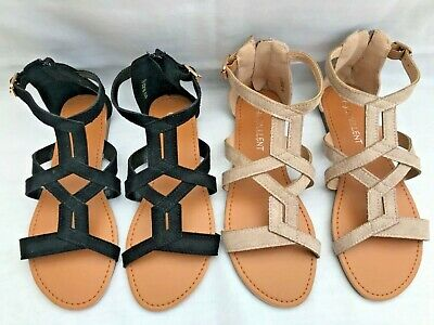 New Ladies Womens Suede Flat Zip Gladiator Casual/Summer Holiday Sandals  • 9.99£