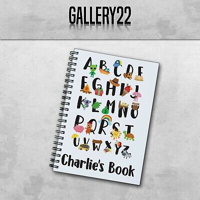 Personalised Notebook Alphabet Spelling  A5 Gift Stationery Children's Writing • 7.99£