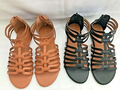 £10.99 • Buy New Womens Ladies Flat Zipped Casual/Summer Holiday Evening Sandals Sizes 3-6