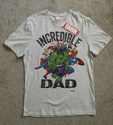 Bnwt Marvel Incredible Dad T-shirt Tee Top Small S Ideal Mens Fathers Day Gift • 9.99£