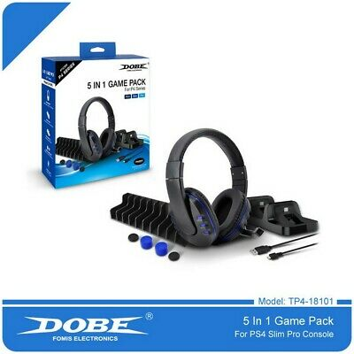 AU42.47 • Buy NEW DOBE PS4 5 In 1 Accessories Sets For Sony PS4 / PS4 Slim / PS4 Pro System