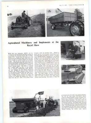 1963 Agri Machinery Royal Show, Hay , Silage Truck, John Salmon Trailer • 6£