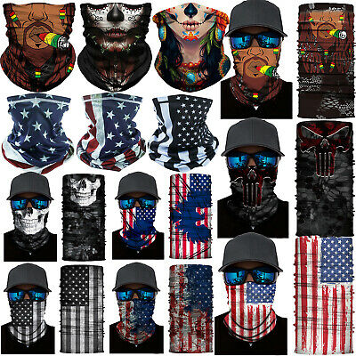 $8.99 • Buy Balaclava Neck Gaiter Tube Bandana Scarf Head Face Cover Shield Headwear Beanie