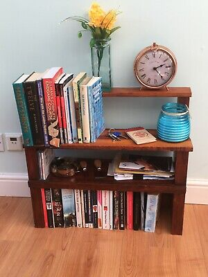 Bookcase - Stunning African Opepe Hardwood - Handmade By Craftsmen • 70£