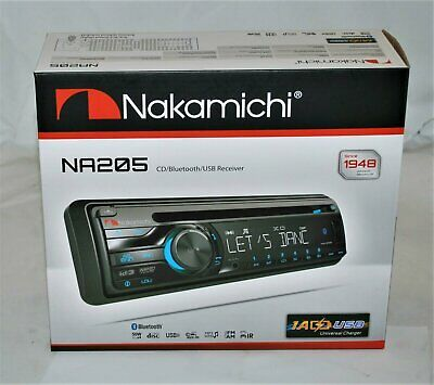 $69.99 • Buy Nakamichi NA205 Bluetooth Single DIN CD AUX USB Car Stereo Receiver Brand New