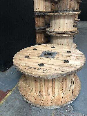 Large Wooden Cable Drum, Table, Garden Up Cycling • 50£