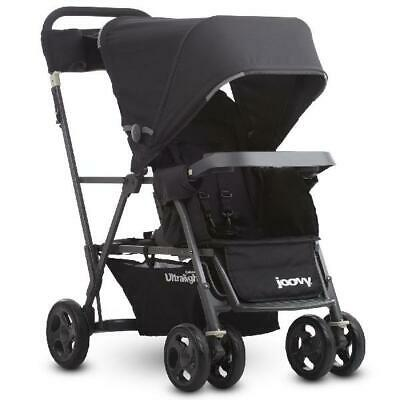 Joovy Caboose Ultralight Sit And Stand Double Stroller, Black • 180.28£