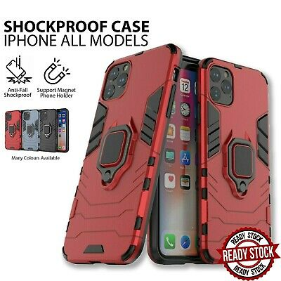 AU10.99 • Buy Armor Ring Case For IPhone 12 11 Pro XS MAX XR XS X Shockproof Magnetic Cover