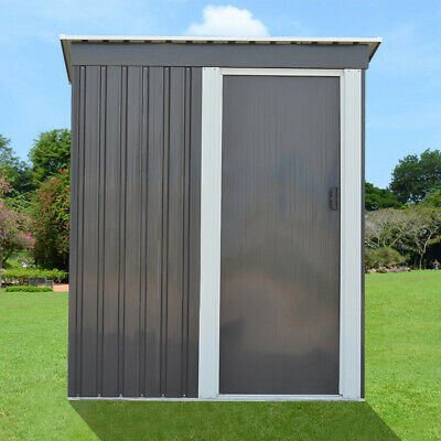 Panana Metal Garden Shed 3 X 5FT Pent Roof Garden Tools Box Storage House • 179.99£