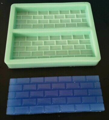 Brick Pattern Silicone Mould For Wax Melts, Candles, Soaps, Resin, Tarts • 7.99£