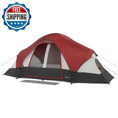 AU202.47 • Buy Family Camping Dome Tent  Rear Window 8-Person 2 Rooms Waterproof Hiking Outdoor