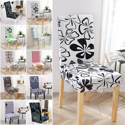 AU9.99 • Buy 1-6X Dining Chair Seat Covers Slip Cover Stretch Wedding Banquet Party Removable