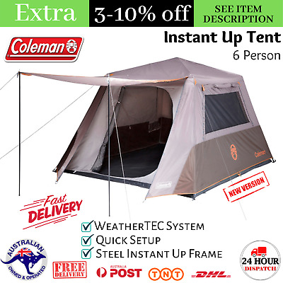 AU355 • Buy 6 Person Pop Up Instant Up Tent Camping Hiking Big Family Canvas 6 Man Coleman