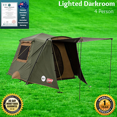 AU440 • Buy 4 Person Instant Up Lighted Dark Room Tent 4 Man Camping Hiking Outdoor Pop Up