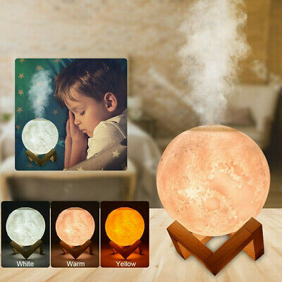 AU25.59 • Buy Air Humidifier 3D Moon Lamp Night Light Aroma Diffuser USB Lunar Home Purifier