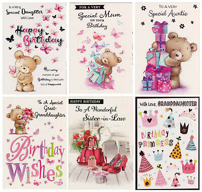 £1.69 • Buy Female Relations Birthday Card Various Designs  Great Value!