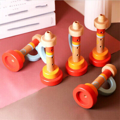 Educational Wooden Horn Hooter Trumpet Instruments Music Kids Toy YU • 3.17£