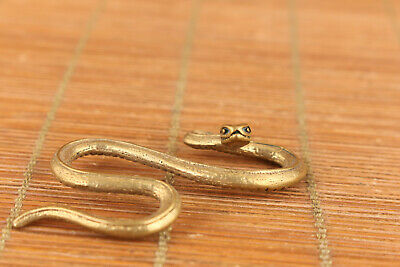 Chinese Old Bronze Hand  Snake Statue Figure Collectable Netsuke Decoration Gift • 11.99£