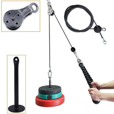 DIY Fitness Tricep Multi Gym Equipment Pulley Cable Machine Biceps Lifting Rope • 48.99£