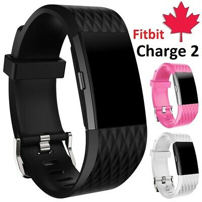 $ CDN4.95 • Buy For Fitbit Charge 2 Replacement Silicone Wristband Sport Band Strap Small Large