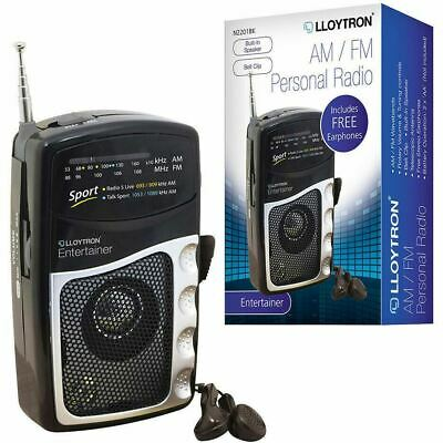 Lloytron Battery Operated Personal Portable Radio With Earphones Am Fm Music • 9.50£