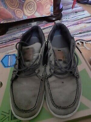 Mens Timberland Deck Shoes Size 10. Blue. Leather & Canvas Upper Very Smart... • 27.99£