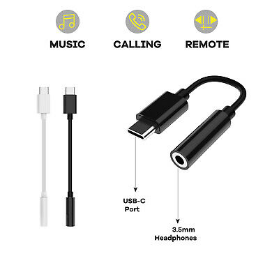 $7.95 • Buy USB-C Type C Adapter Port To 3.5MM Aux Audio Jack Headphone Cable For Samsung