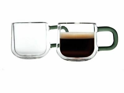 Ravenhead Double Wall Espresso Glass Mugs Set Of 2 Pieces 9cl - Clear • 10.49£
