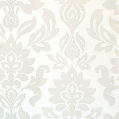 Laura Ashley Hampstead White Floral Wallpaper Pearlescent Cream Damask • 19.99£