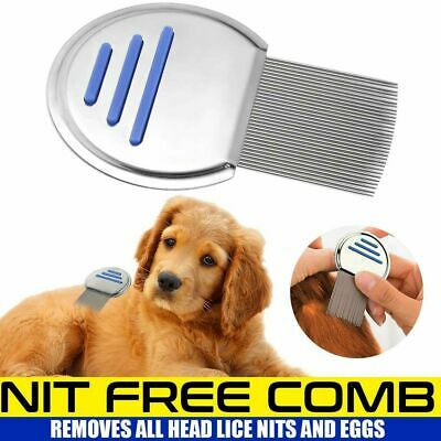 Lice Nit Free Comb, Removes All Head Lice, Nits & Eggs, Steel Metal Head • 2.09£