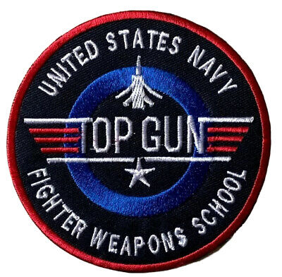 £1.99 • Buy Top Gun Patch Embroidered Iron / Sew On Badge Navy Air Force Fancy Dress Costume