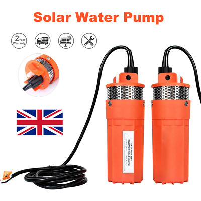 Submersible Deep Well Water Pump Solar Battery For Pond Garden Watering DC 24V • 61.40£