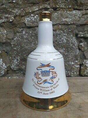 Vintage Wade Bells Scotch Whisky Decanter 50cl - Prince William's Birth 21.6.82 • 13.50£