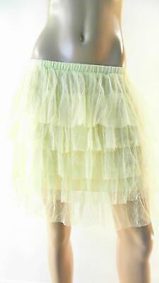 Lost For Her Womens Size S Mesh Ruffle Party Tiered A-line Skirt Above Knee • 10.49£