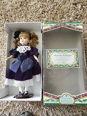 $ CDN27.05 • Buy Victorian Collector's Porcelain Doll 16  Brown Hair Blue Eyes Limited Edition