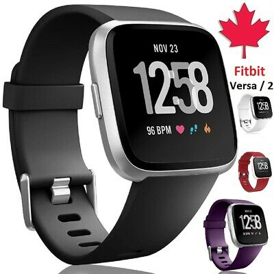 $ CDN5.95 • Buy For Fitbit Versa 2 1 Lite Replacement Silicone Wristband Band Strap Small Large