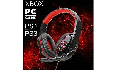 3.5mm Gaming Headset Headphones With MIC For PC Mac Switch Laptop PS4 Xbox Onel • 8.99£